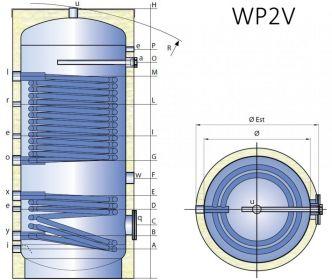 Smaltovaná nádrž TIPEX TXE 1000 WP2V F10 s izolací