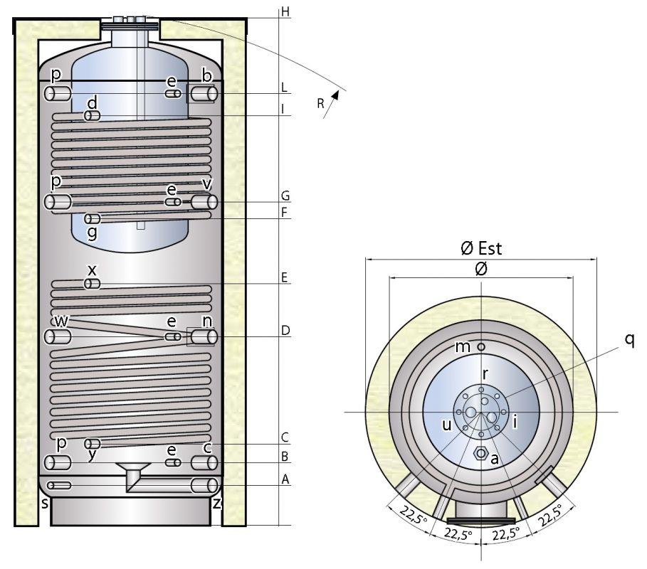 TIPEX XPCSS nerezový tank v tanku se dvěma výměníky