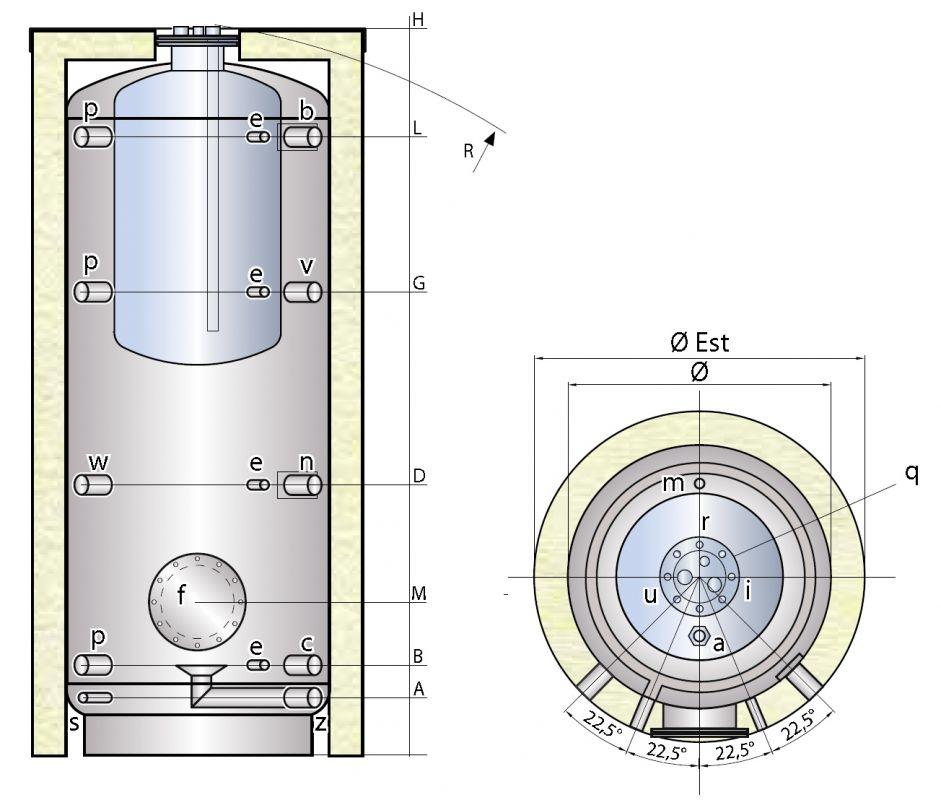 Ohřívač TIPEX PCF s vnořeným nerezovým zásobníkem
