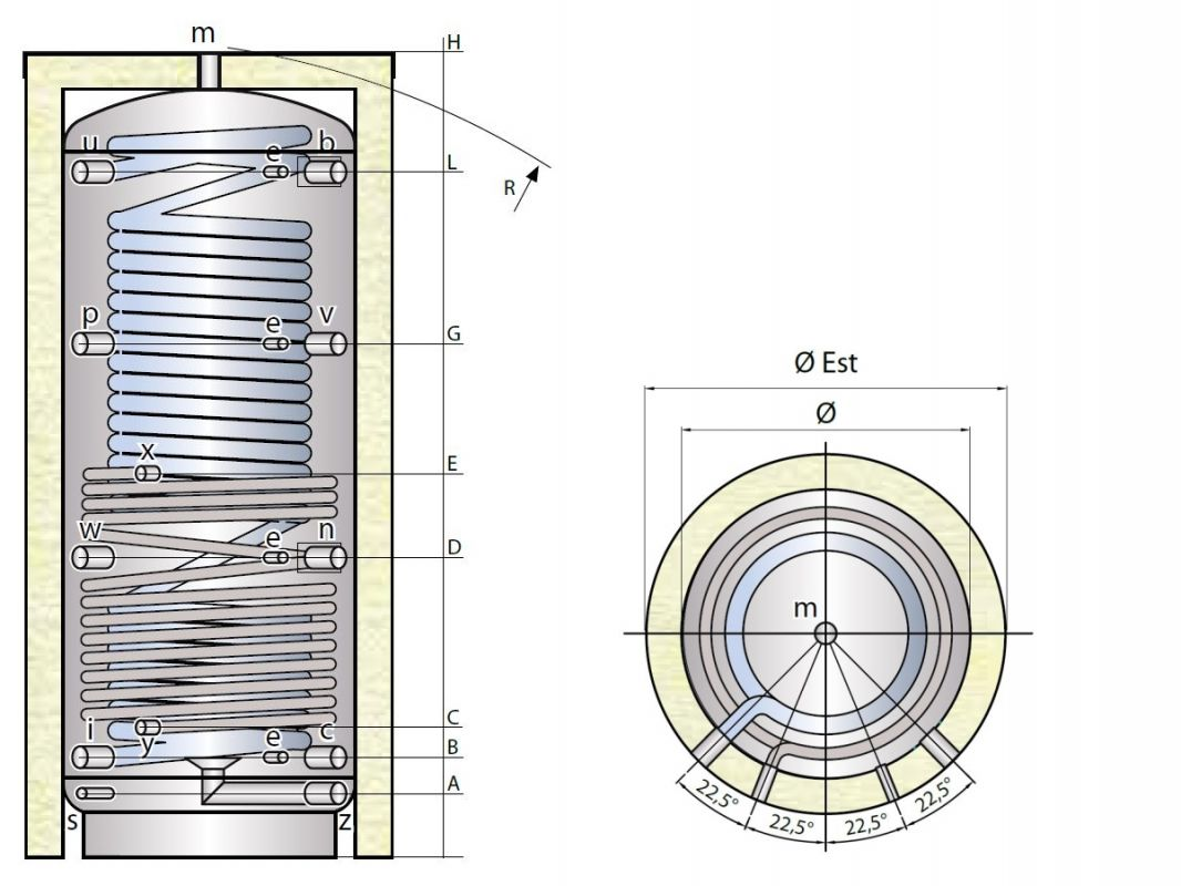 Ohřívač MX1W s výměníkem