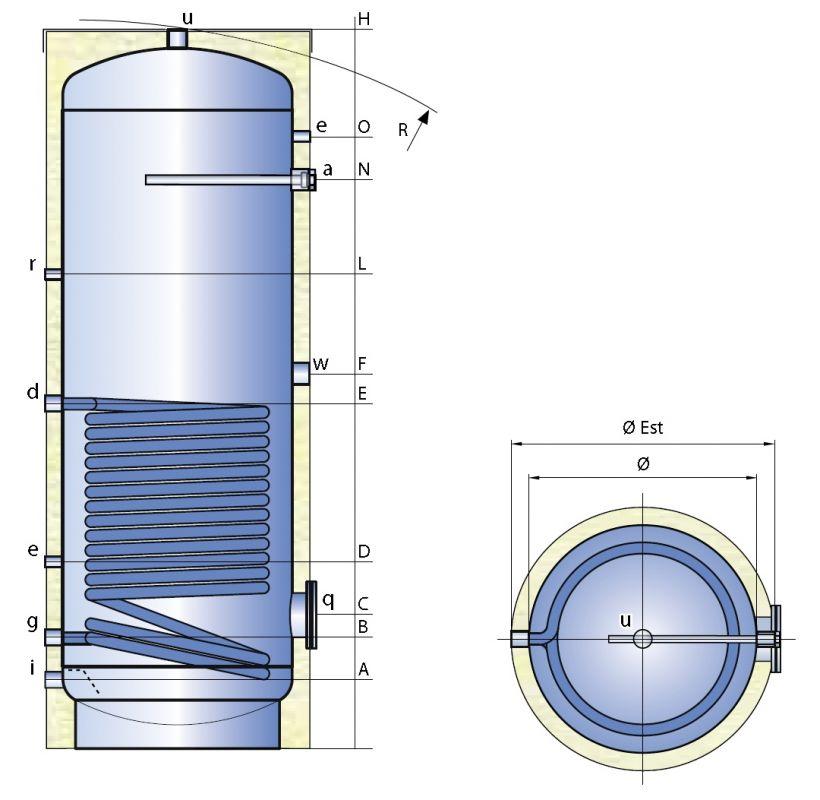 Smaltovaný ohřívač vody TIPEX SFV