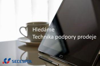 Hledáme kolegu na pozici Technik podpory prodeje